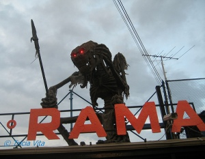 Guardian Spirit atop the Spook-A-Rama in Deno's Wonder Wheel Park. Photo © Tricia Vita