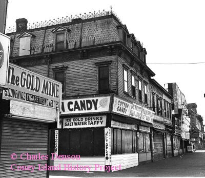 Grashorn Building in 1969. Photo © Charles Denson via Coney Island History Project