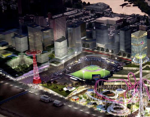 Coney Island Aerial: Detail of Conceptual Rendering. CIDC Press Kit
