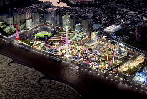 Conceptual Rendering of Coney Island at Night.  CIDC Press Kit