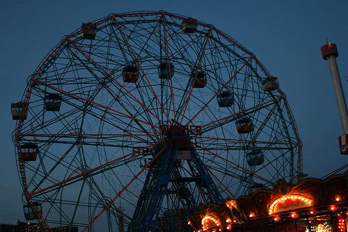 Wonder Wheel on the First Night of Spring. Photo © Bruce Handy/Pablo 57 via flickr