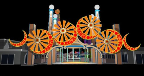Rendering of Gate for the New Luna Park