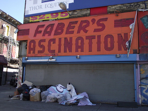 Faber's Fascination Sign Stripped of its Letters. Photo © Anonymouse-deux via Amusing the Zillion