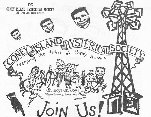 Logo from Coney Island Hysterical Society Newsletter, 1987