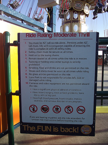 Sign for Lynn's Trapeze at Luna Park. October 10, 2010. Photo © Eric Kowalsky