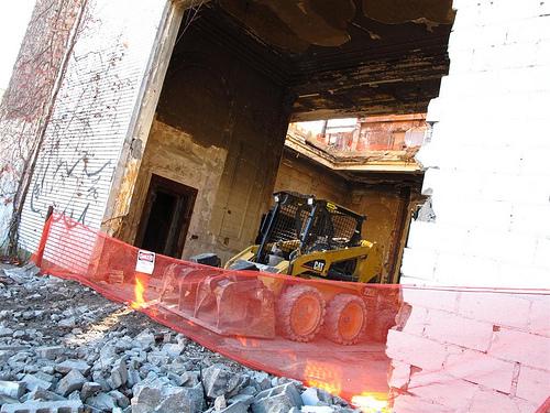 Bank of Coney Island Demolition. November 7, 2010. Photo © Bruce Handy/Pablo 57 via flickr