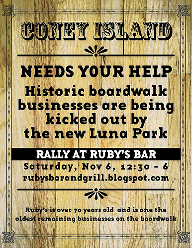Coney Island Needs Your Help: The Official Poster from Friends of Ruby's Bar & Grill