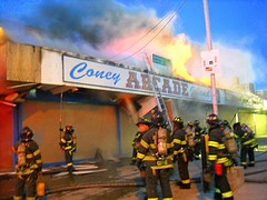 Fire at Arcade