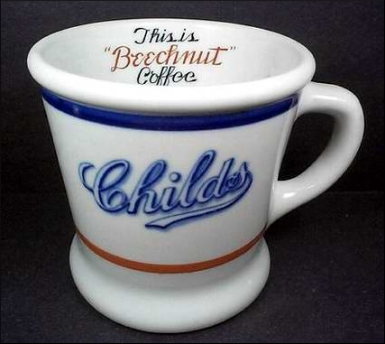 Childs Restaurant Shenango China Mug via Restaurant Ware Collectors Network