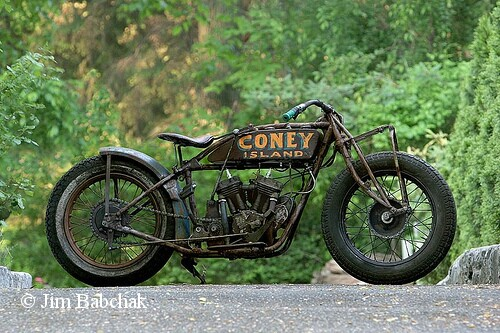 1924 Indian Scout, 30.50 cu in, original Coney Island Motordrome bike! Runs excellent! Jim Babchak Collection. $22,900