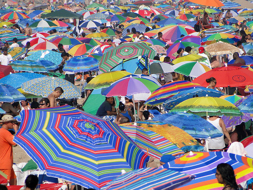 Beach Umbrellas in Coney Island
