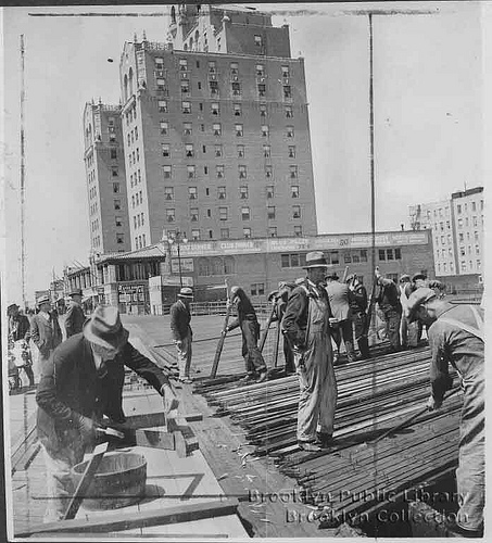Boardwalk renovation 1934