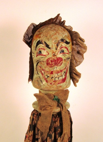 wooden knockdown clown head