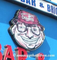 ohn 'Cha Cha' Ciarcia's Funny Face Logo, Coney Island