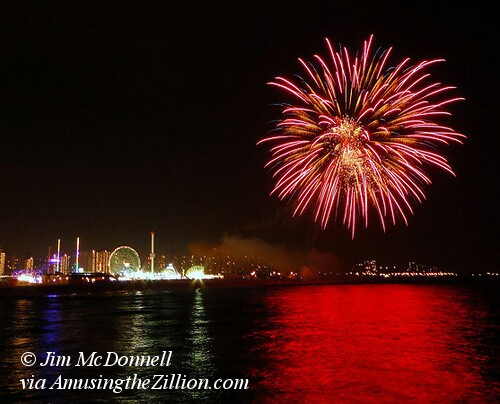 Coney Island Fireworks Schedule  Th Of July