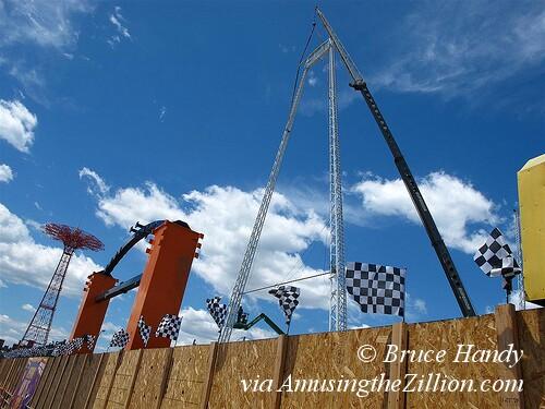 SkyCoaster Construction
