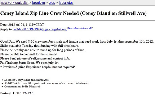 Coney Island Zip Line