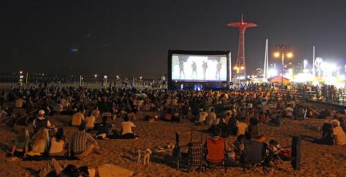 Coney Island Flicks on the Beach