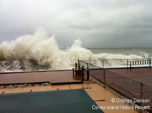 Hurricane Sandy at Sea Gate