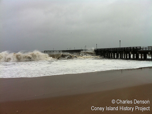 Hurricane Sandy Steeplechase Pier