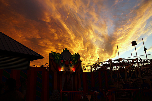 Sunset over Coney Carnival