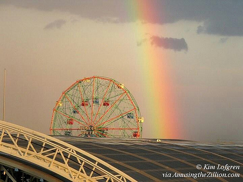 Rainbow at Wonder Wheel