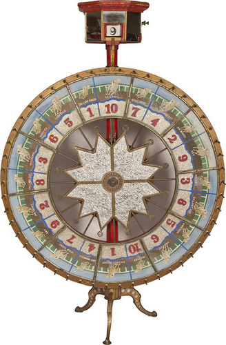 H.C. Evans & Co. Horse Race Gambling Wheel