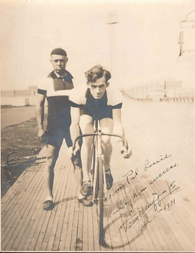 Racers at Coney Island Velodrome
