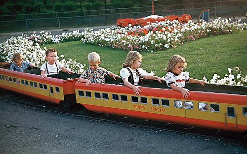 train at Idora Park