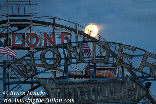 Full Moon in Coney Island