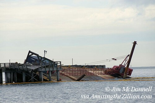 Sinking Barge at Steeplechase Pier,