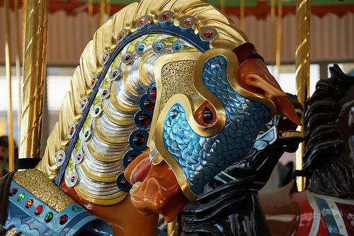 Illions Horse on the B&B Carousell