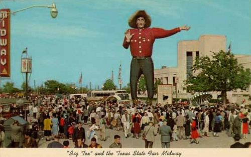 Big Tex Vintage Postcard