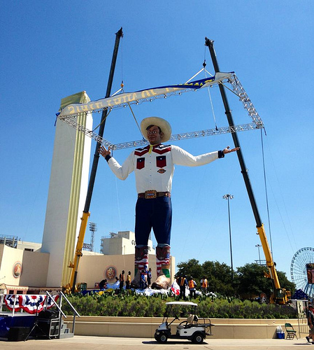 Traveler new big tex debuts at state fair of texas amusing the the new big tex was unveiled at the state fair of texas on september 26 photo via state fair of texas publicscrutiny Image collections