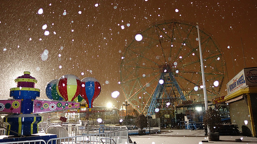 Snow in Coney Island