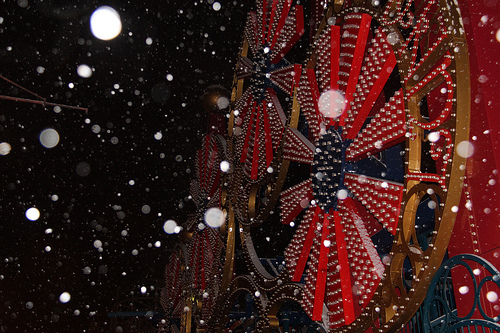 First Snow in Coney Island