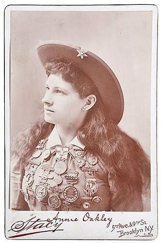 Annie Oakley Cabinet Photograph