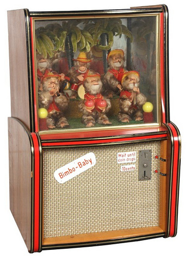 Bimbo Baby Automaton Arcade Machine