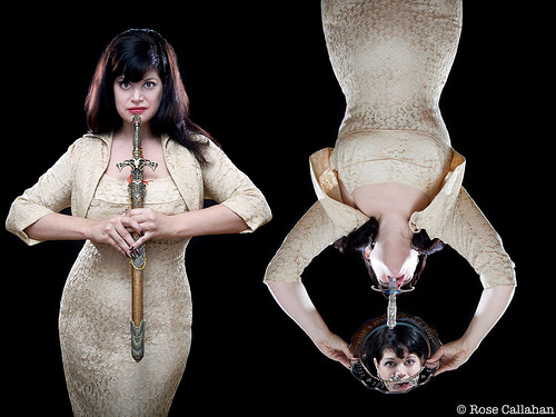 Lady Aye, Sword Swallower. Photo © Rose Callahan