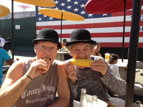 Sirs Patrick Stewart and Ian McKellen in Coney Island