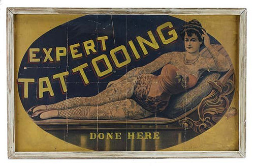 Expert Tattooing Lithographed Poster
