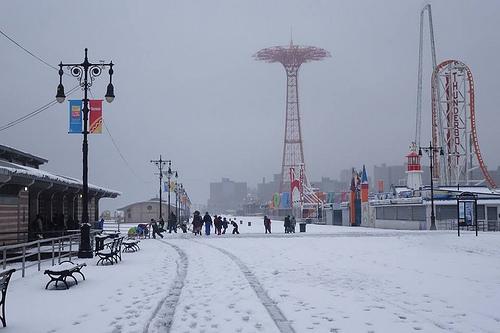 Snowy Parachute Jump