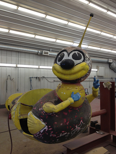Coney Island Bumble Bee Ride Rebuilt, Set to Go on Road with