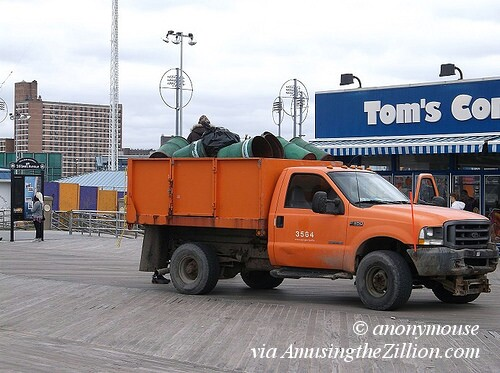 Truck on Coney Island Boardwalk
