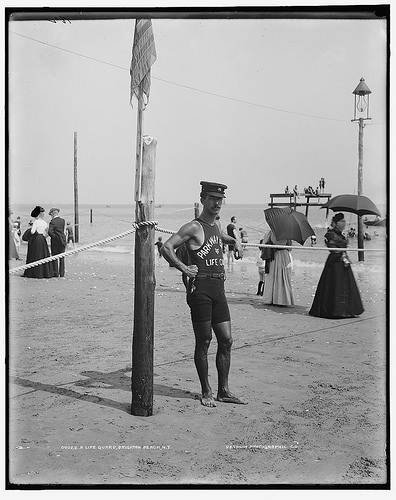 A Life guard, Brighton Beach